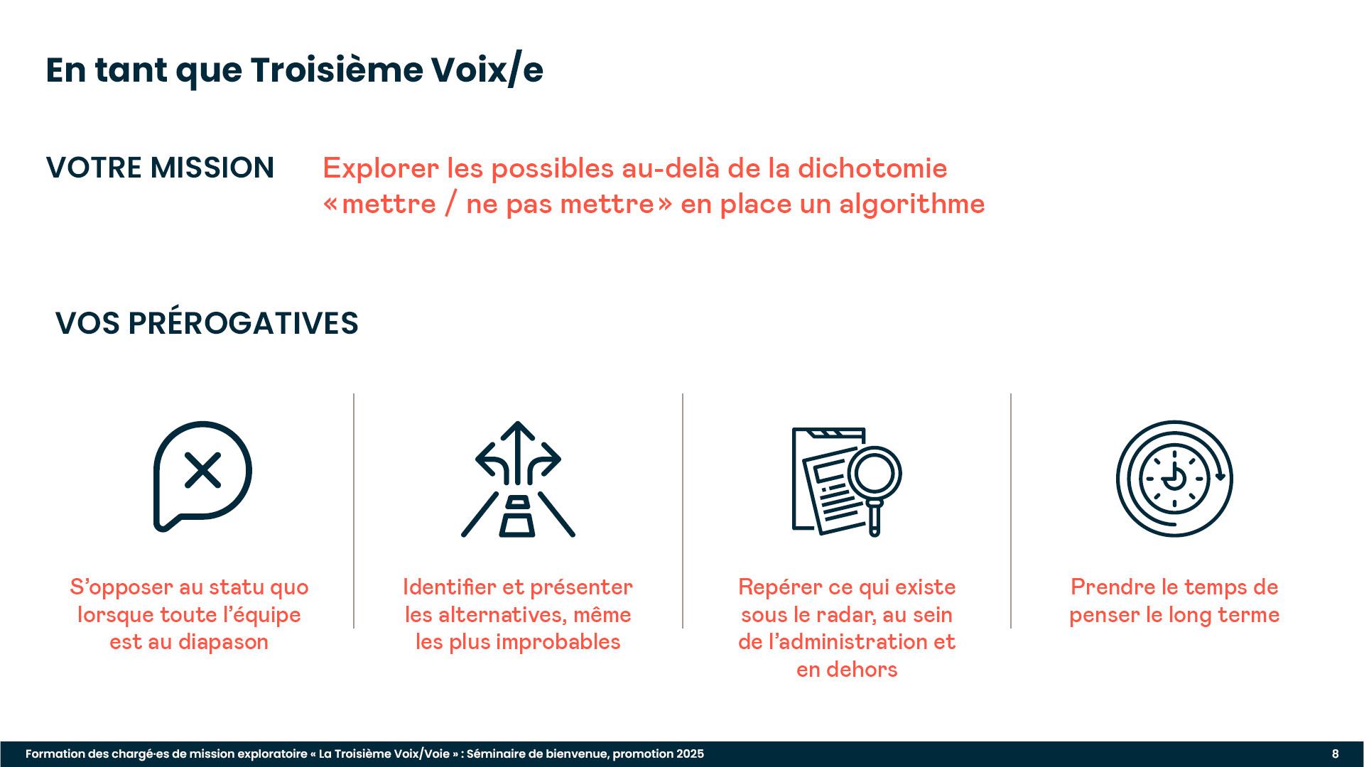 Diaporama de formation : présentation de la mission des Troisièmes Voix/es