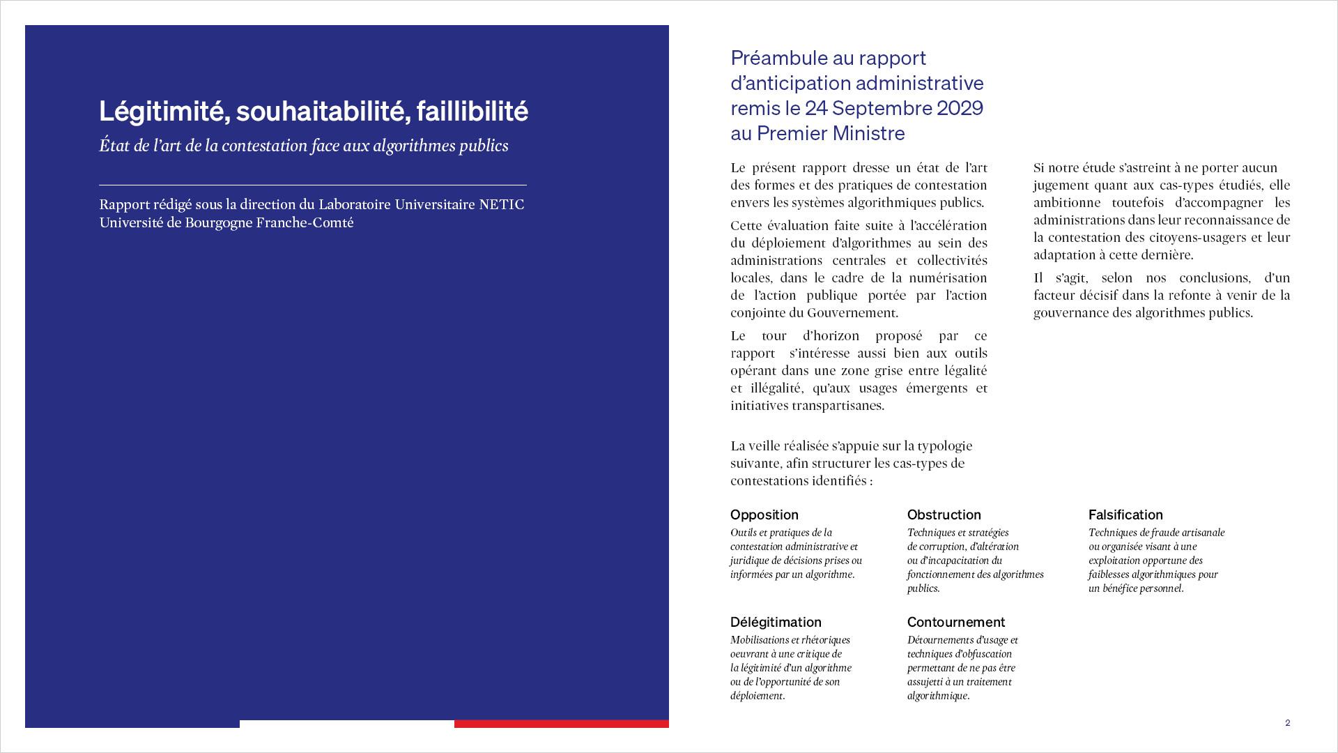 Préambule au rapport d'anticipation administrative remis le 24 Septembre 2029 au Premier Ministre